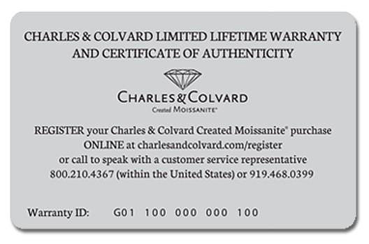 "Because it comes with this warranty card / certificate, the Moissanite is sold as being ""certified""."